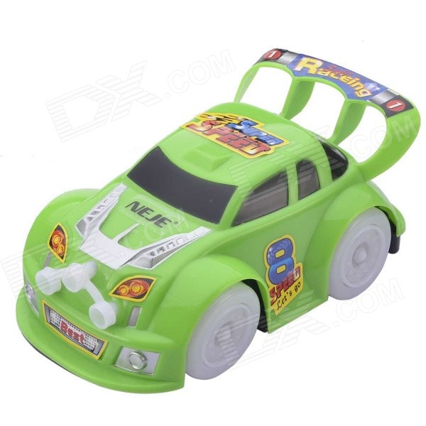 NEJE ST0007-1 Music / Flashing Light Likable Racing Car Electric Toy - Green (3 x AA)