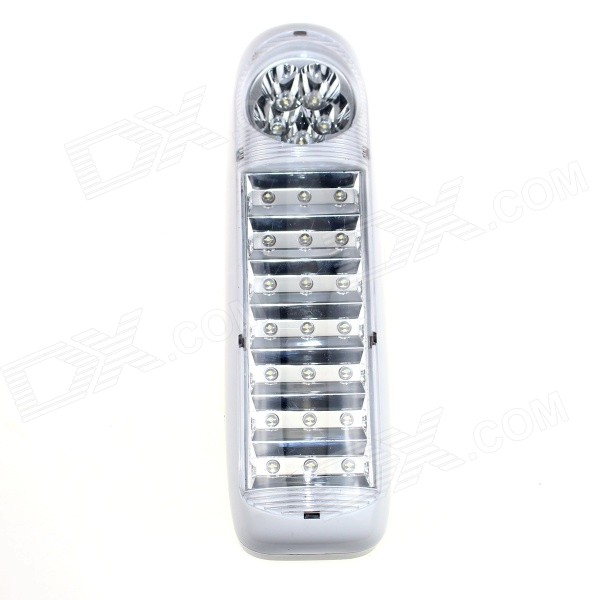 DP LED-719A 1.47W 110lm 6000K 26-LED White Emergency Lamp w/ EU Plug - White + Black