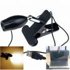 HAPPY XF-078 USB Powered 1W 80lm LED Warm White Clip-On Reading Lamp - Black