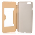 "Protector Flip-Open PU + PC caso w / Stand / tarjeta ranura para IPHONE 6 PLUS 5.5 ""- Blanco"