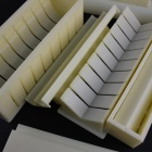 10-in-1 Plastic Food Sushi Roll Molds w/ Spoon Set - Beige + White