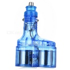1-to-2 Cigarette Power Socket Spliter Translucent Color