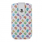 Buy Owls Pattern Protective PU Pouch Case Pull Strap + Magnetic Button IPHONE 6 PLUS 5.5 inch - White