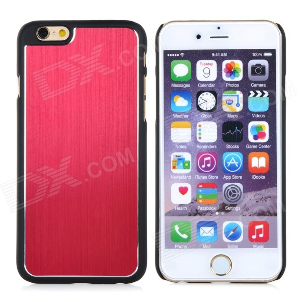 Bluestar Protective PC + Aluminum Alloy Back Case Cover for IPHONE 6 4.7 - Red + Black protective aluminum alloy pc back case for samsung galaxy note 3 n9000 more red black
