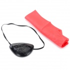 Halloween Cosplay Pirate's One-Eye Patch + Headscarf - Black + Red