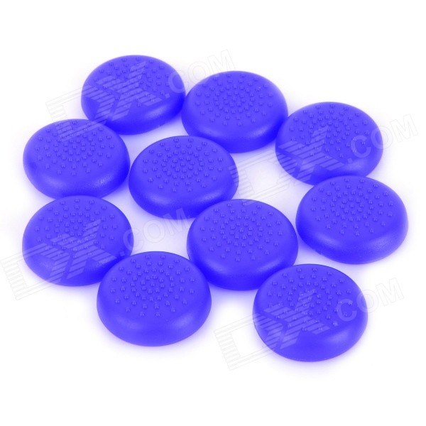 Anti-Slip TPU Joystick Thumbstick Cap Covers for PS4 / XBOX ONE - Blue (10 PCS) anti slip tpu joystick thumbstick cap covers for ps4 xbox one blue 10 pcs