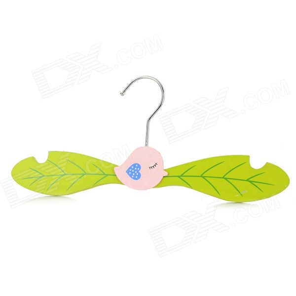 KT-01 Water-resistant Cartoon Wooden Clothes Rack Hanger for Pet Cat / Dog - Green