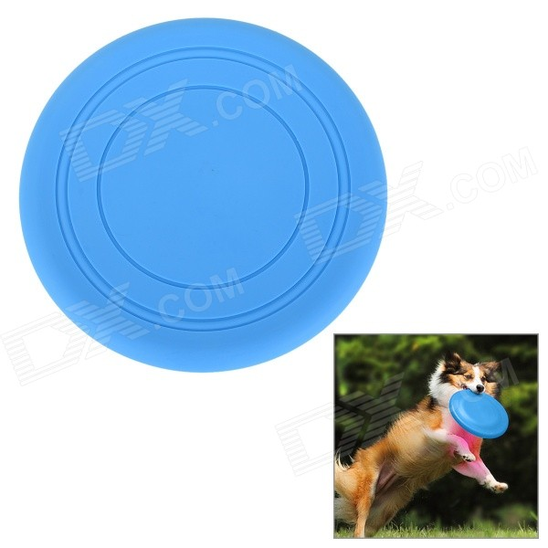 цена Super Soft Frisbee UFO Style Silicone Indoor / Outdoor Toy for Pet Dog - Sky Blue