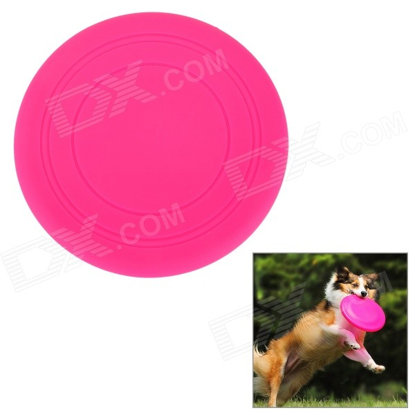 Super Soft Frisbee UFO Style Silicone Indoor / Outdoor Toy for Pet Dog - Deep Pink dog supplies silicone pet frisbee soft light training pet dog toys