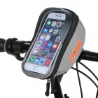 CBR CBR-010 Bike Handlebar Mounted Touch Screen Phone Pouch Case Bag w/ Glare Shield - Silver