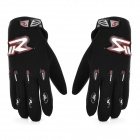 Motorcycle Adjustable Full-Finger Cloth Gloves - Black (L / Pair)