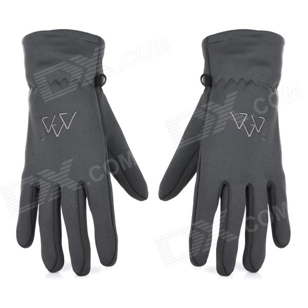 Santo LXG-63 Outdoor Winter Autumn Cycling Mountaineering Warm Gloves - Grey (Size L)