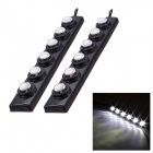 Merdia 12V 40lm 6500K 6 x SMD LED Superbright Waterproof White Car Daytime Running Light (2 PCS)