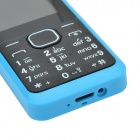 "1.77"" LCD Screen Dual-SIM Card Quad-band GSM Bar Phone w/ MP3 / FM - Blue + Black"