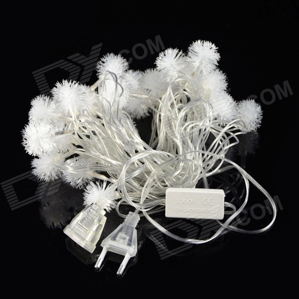 5W 28-LED 3-Mode RGB Colorful Snowflake Christmas Light String Model (220V / 2-Round-Pin Plug)
