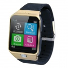 "AOLUGUYA M6 GSM Smart Watch Phone w/ 1.54"" Screen, Quad-band, Pedometer, FM, Bluetooth V3.0 - Golden"