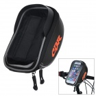 CBR CBR-010 Bike Handlebar Mounted Touch Screen Phone Pouch Case Bag w/ Glare Shield - Black