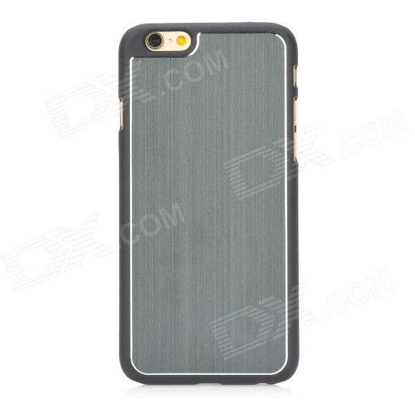 High Quality Protective PC + Aluminum Alloy Back Case for IPHONE 6 - Grey + Black цена и фото