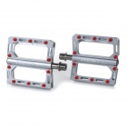 AEST YMPD-10T Lightweight Aluminum Magnesium Alloy Pedals for Road / Mountain Bikes - Grey (Pair)