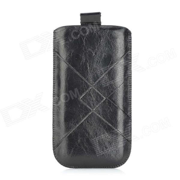Protective PU Leather Pouch Case for IPHONE 6 - Black