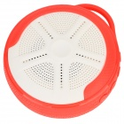 Outdoor Sport Portable Handsfree Bluetooth V4.0 Speaker w / microfoon / TF-White + rood