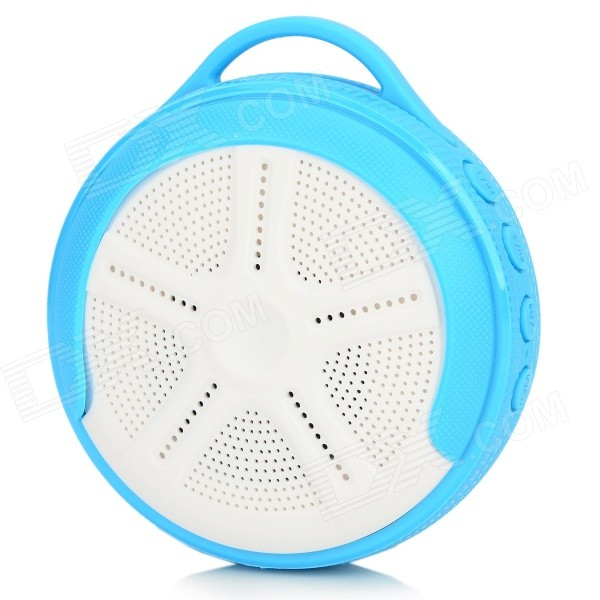Outdoor Sport Portable Handsfree Bluetooth V4.0 Speaker w/ Microphone / TF - White + Blue mymei best price new portable 3 5mm pillow speaker for mp3 mp4 cd ipod phone white