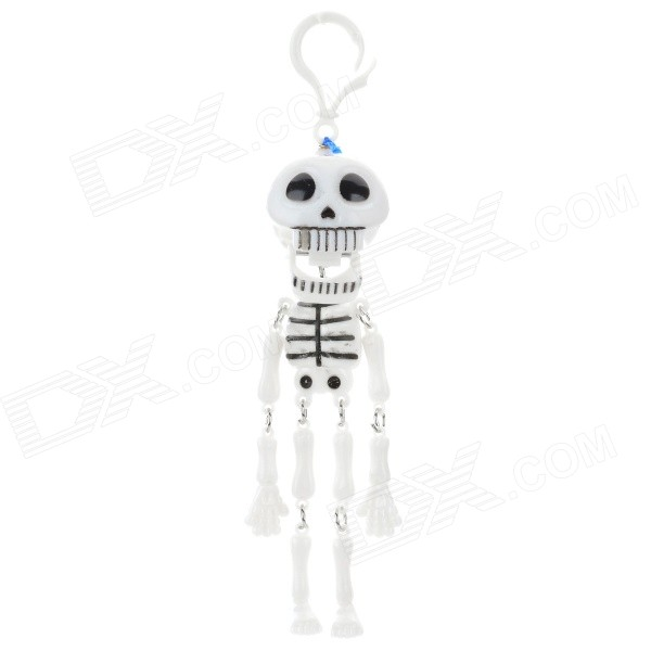 Halloween ABS Decorative Skeleton Toy - White + Black