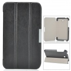 "3-Fold Protective Flip Open PU Leather Case w/ Stand for 7"" Asus Fonepad 7(FE375CG) - Black"