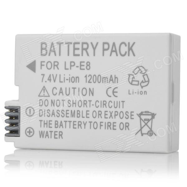 LP-E8 Compatible 7.4V 1200mAh Battery Pack for Canon 550D bp 208 compatible 850mah battery pack for canon mvx1sidc10 dc20 more