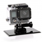 "Wi-Fi HD 1080P 30m Waterproof Mini 12.0MP Sports Camera w/ 0.7"" LCD, Li-ion Battery 1050mAh - Black"