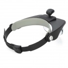 BIJIA Two-way Regulation Head-wearing Magnifier w/ LED - Black + White