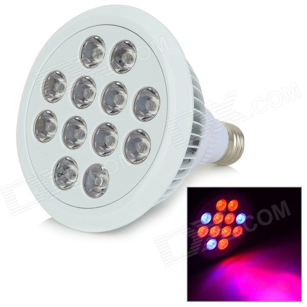 MFC-12W E27 12W 380lm 12-LED Red / Blue Light Plant Growth Lamp - White (AC 85~265V) 4pcs lot 72leds 216w full spectrum led grow light ac85 265v ufo led plant lamp red blue uv ir indoor grow tent lighting