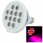 MFC-12W E27 12W 380lm 12-LED Red / Blue Light Plant Growth Lamp - White (AC 85~265V)