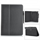 Lichee Pattern Stylish Flip Open PU Case w/ Stylus Pen / Stand for Asus Transformer Pad TF303CL