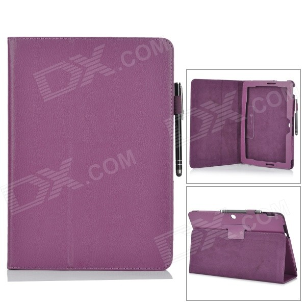 Protective PU Leather Flip Open Case w/ Stand for 10.1 Asus Transformer Pad TF303CL - Purple asus transformer pad infinity tf700t в харькове