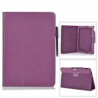 "Protective PU Leather Flip Open Case w/ Stand for 10.1"" Asus Transformer Pad TF303CL - Purple"