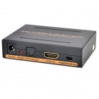 1-IN 2-OUT Port HDMI Audio Video 1.3 Splitter - Black + Golden (US Plug / 100~240V)