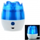 Rose en forma de USB Powered escritorio humidificador de aire - azul + blanco (150 ml)