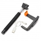 Z07-5 Universal Handheld Wireless Bluetooth Remote Control Shutter Monopod - Black