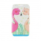 Kinston Flamingo-Liebe-Muster PU + Plastic Flip Open Case w / Stand / Card Slot für iPhone 6 PLUS