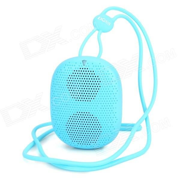 DOSS DS-1196 Portable Mini Wearable Bluetooth V4.0 Speaker w/ TF - Blue t050 3w mini portable retractable stereo speaker w tf black golden 16gb max