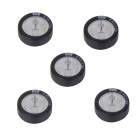 ZnDiy-BRY C-1.5 5.5V 1.5F C-Type Button Farad Capacitors - Black (5 PCS)
