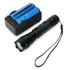 Ultrafire 600lm 5-Mode White Light LED Flashlight w/ Strap - Black (1 x 18650)