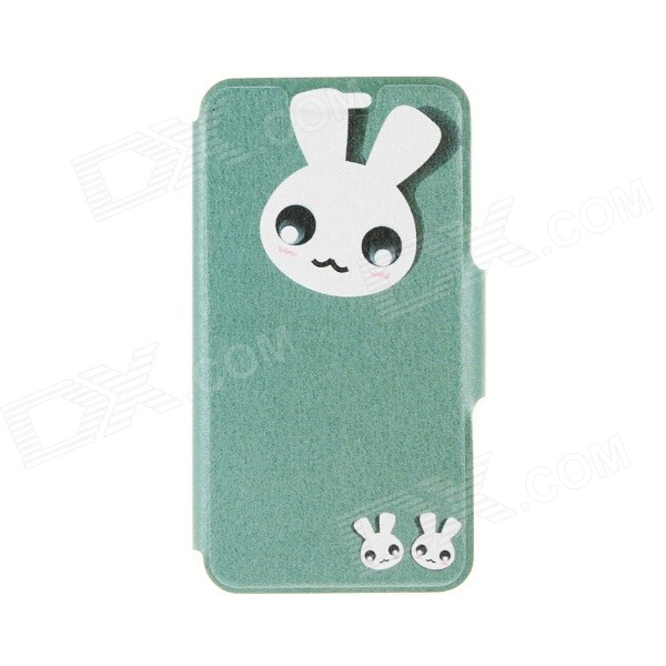 Kinston Cute Rabbit Pattern PU + Plastic Flip Open Case w/ Stand / Card Slot for IPHONE 6 PLUS kinston kst92535 silk pattern pu plastic case w stand for iphone 6 plus white