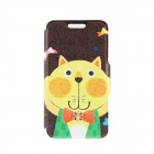 Kinston Cat with Bow Pattern PU Leather Case Cover Stand for IPHONE 6 Plus - Black + Yellow