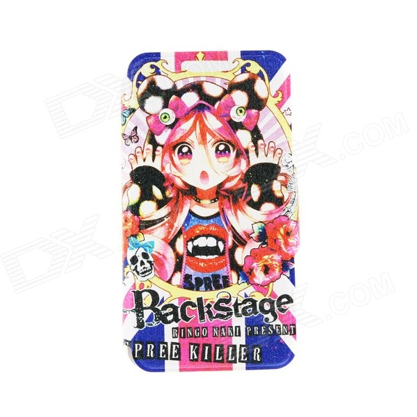 Kinston Fantasy Girl Pattern PU Leather Full Body Case Cover Stand for IPHONE 6 Plus - Multicolored аксессуар защитное стекло для htc desire 12 zibelino tg full screen 0 33mm 2 5d black ztg fs htc d12 blk