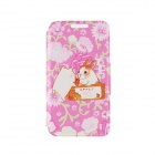 Kinston Rabbit and Pig Pattern PU Leather Flip Open Case w/ Stand / Card Slot for IPHONE 6 PLUS