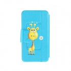 Kinston Giraffe Give You Flowers Pattern PU Leather Full Body Case Cover Stand for IPHONE 6 Plus