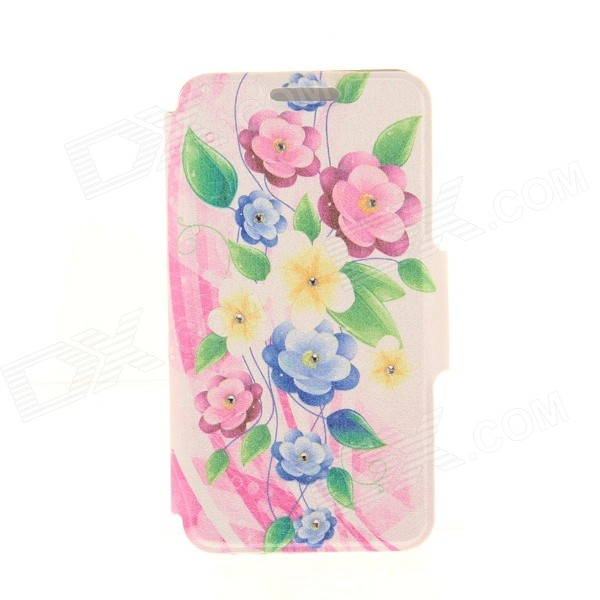 Kinston Color Petunia Diamond Paste Pattern PU Leather Full Body Case Cover Stand for IPHONE 6 Plus kinston pink lotus diamond paste pattern pu leather full body case cover stand for iphone 6 plus