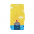 Kinston the Seal in Water Pattern PU Leather Full Body Case Cover Stand for IPHONE 6 Plus - Yellow